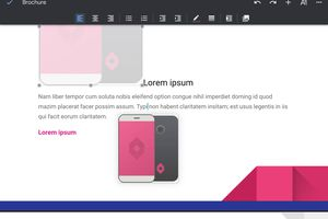 Screenshot showing how to move a picture in Google Docs on iPad