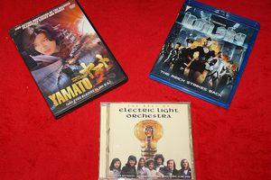 DVD, Blu-Ray and CD discs