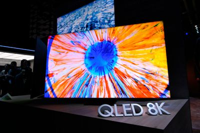 QLED 8K television from Samsung on display at CES 2020