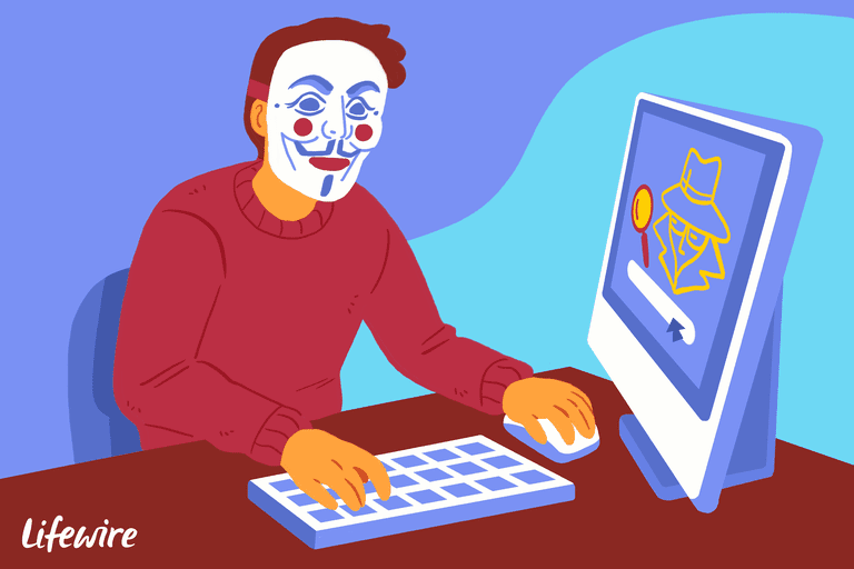 An illustration of an anonymous user at a computer.