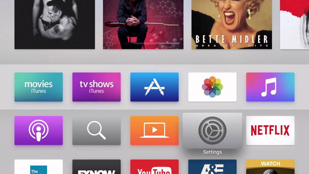 tvOS 9 interface on Apple TV
