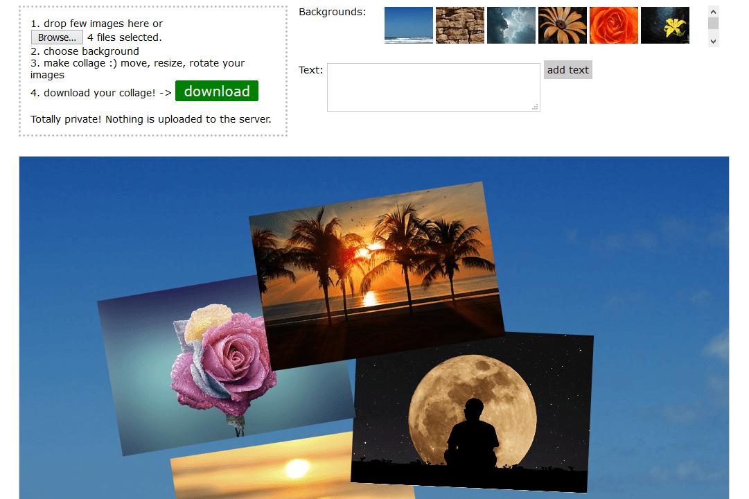 Fotonea.com collage example