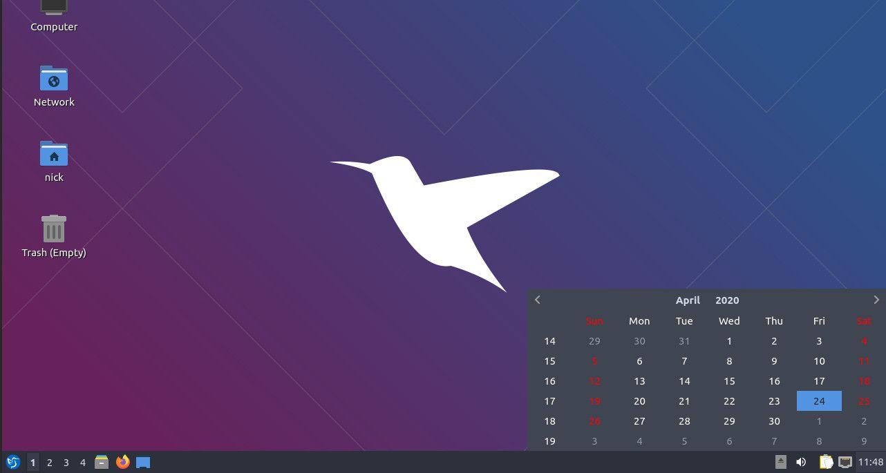 Lubuntu system tray