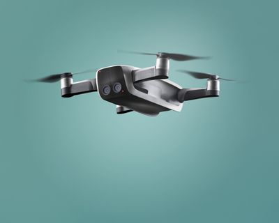 A flying drone.