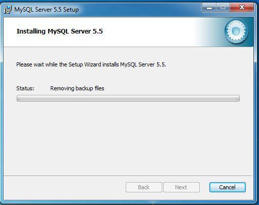 MySQL server install