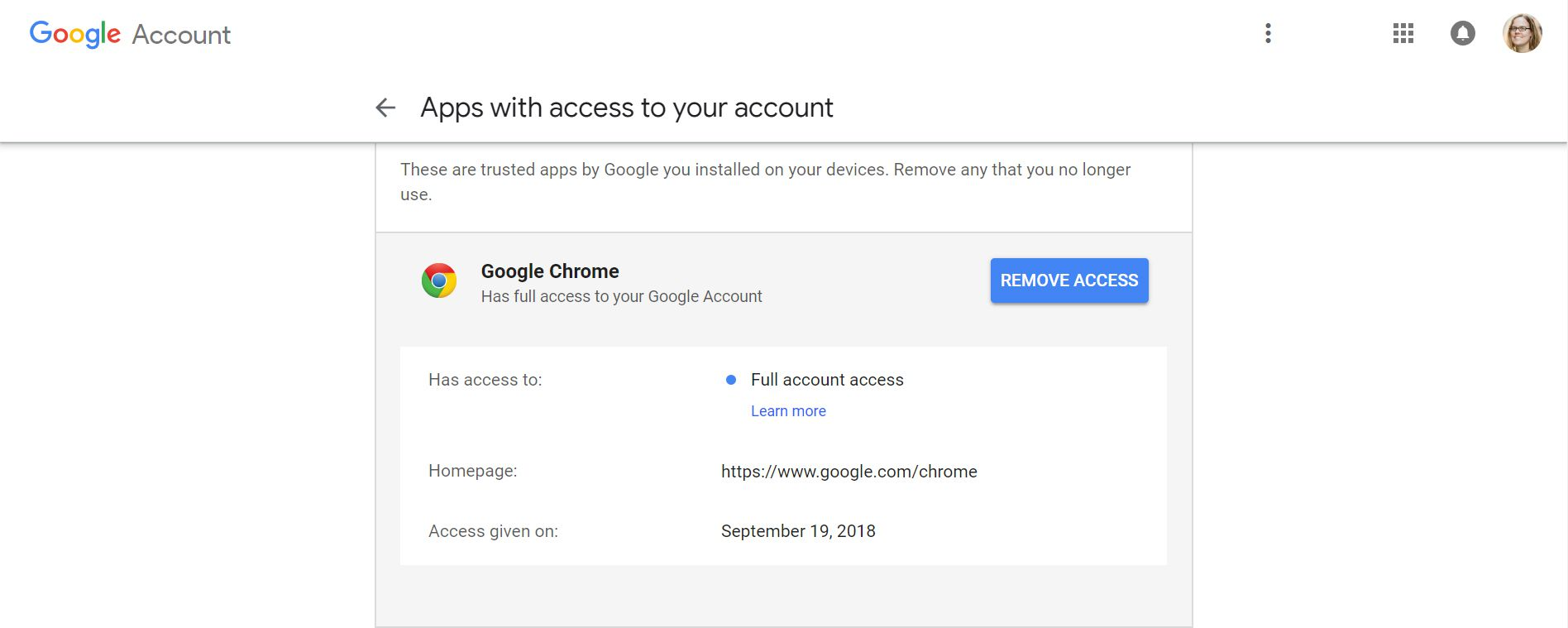 sign out google chrome account