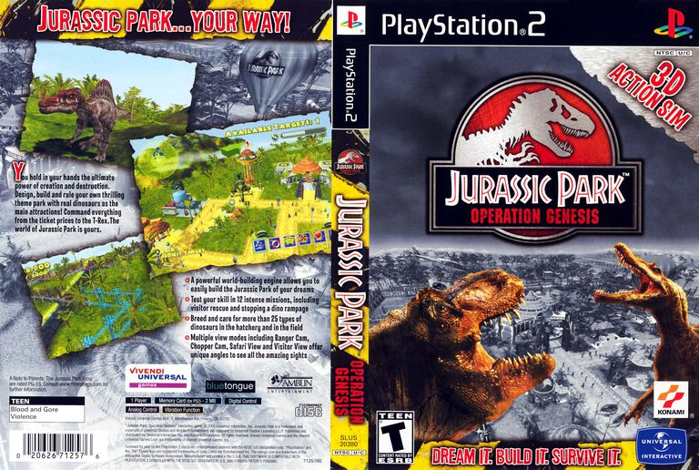 Jurassic Park: Operation Genesis box art