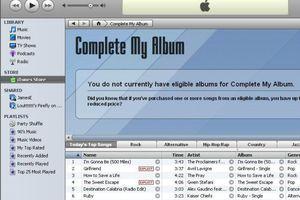 Complete my album feature in iTunes