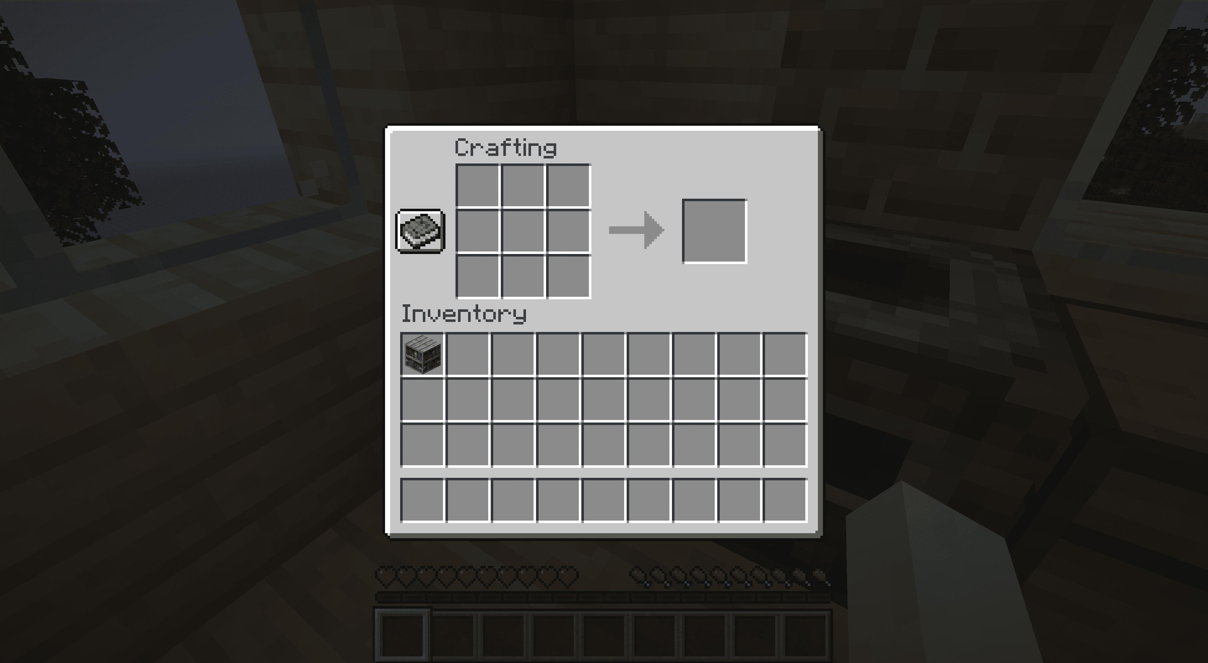 A crafted bookshelf in Minecraft.