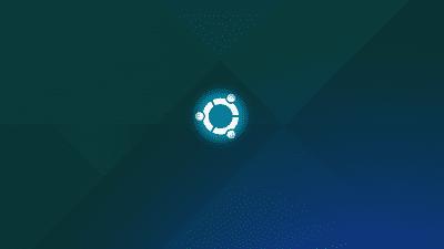 Ubuntu desktop with logo on PC