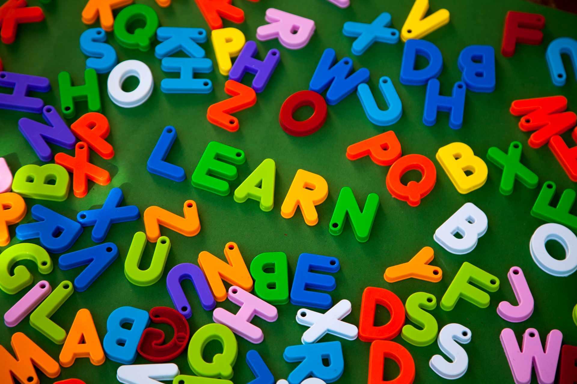 ABC letter magnets.