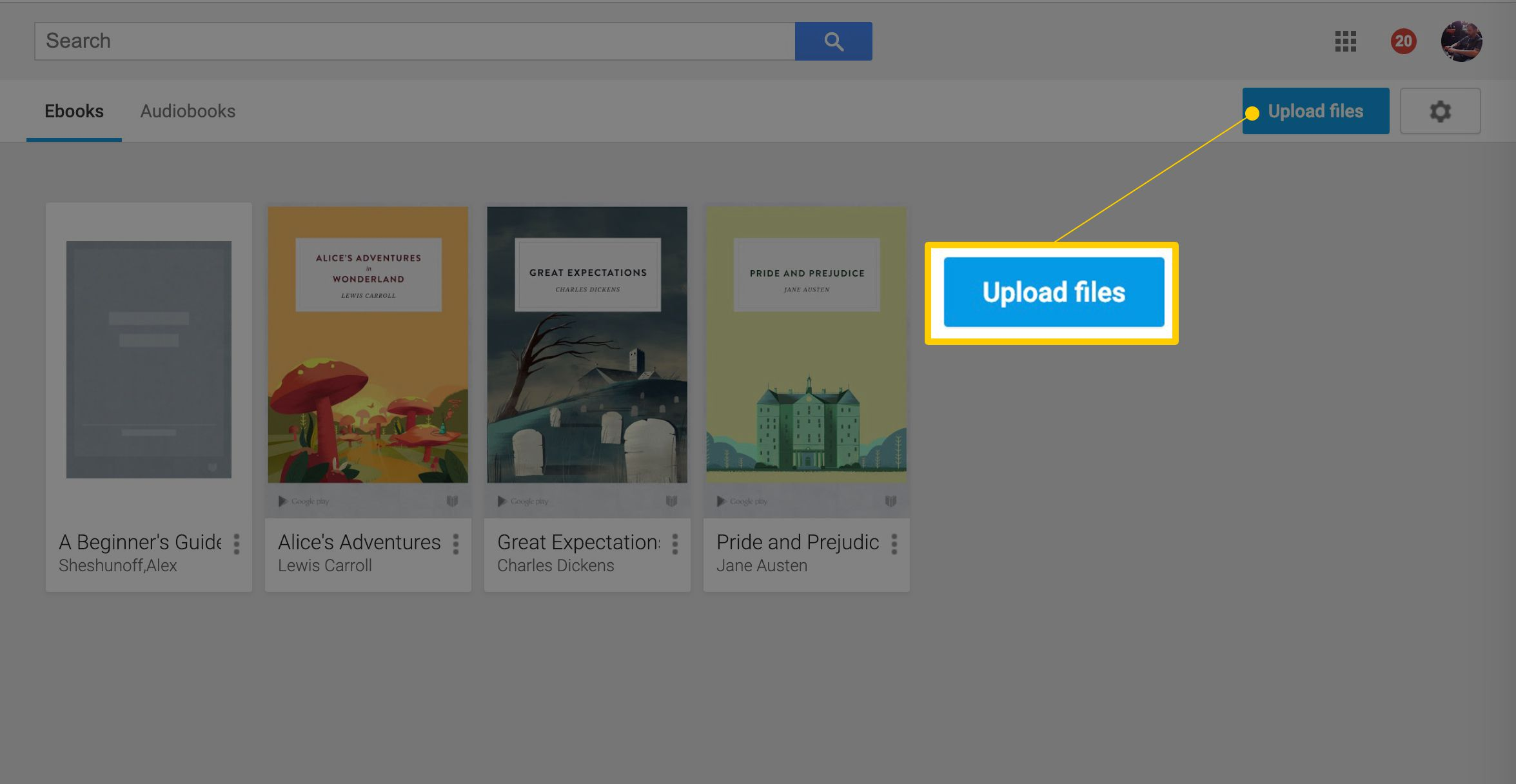 Upload Your Own E-Books to Google Play Books