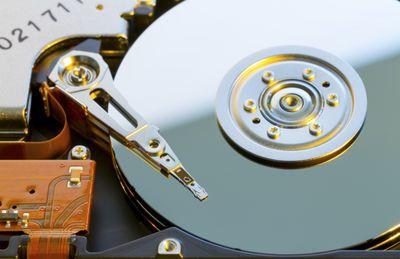 Photo of a hard disc drive platter