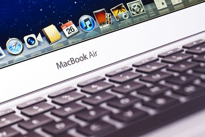 Apple MacBook Air laptop - stock photo.