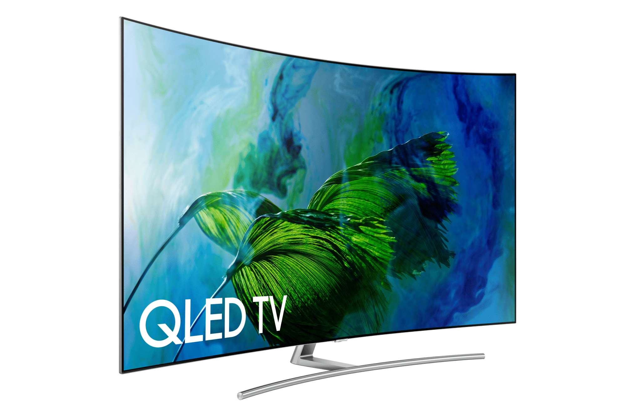 The Samsung QLED line of curved HDTVs feature almost no bezel.