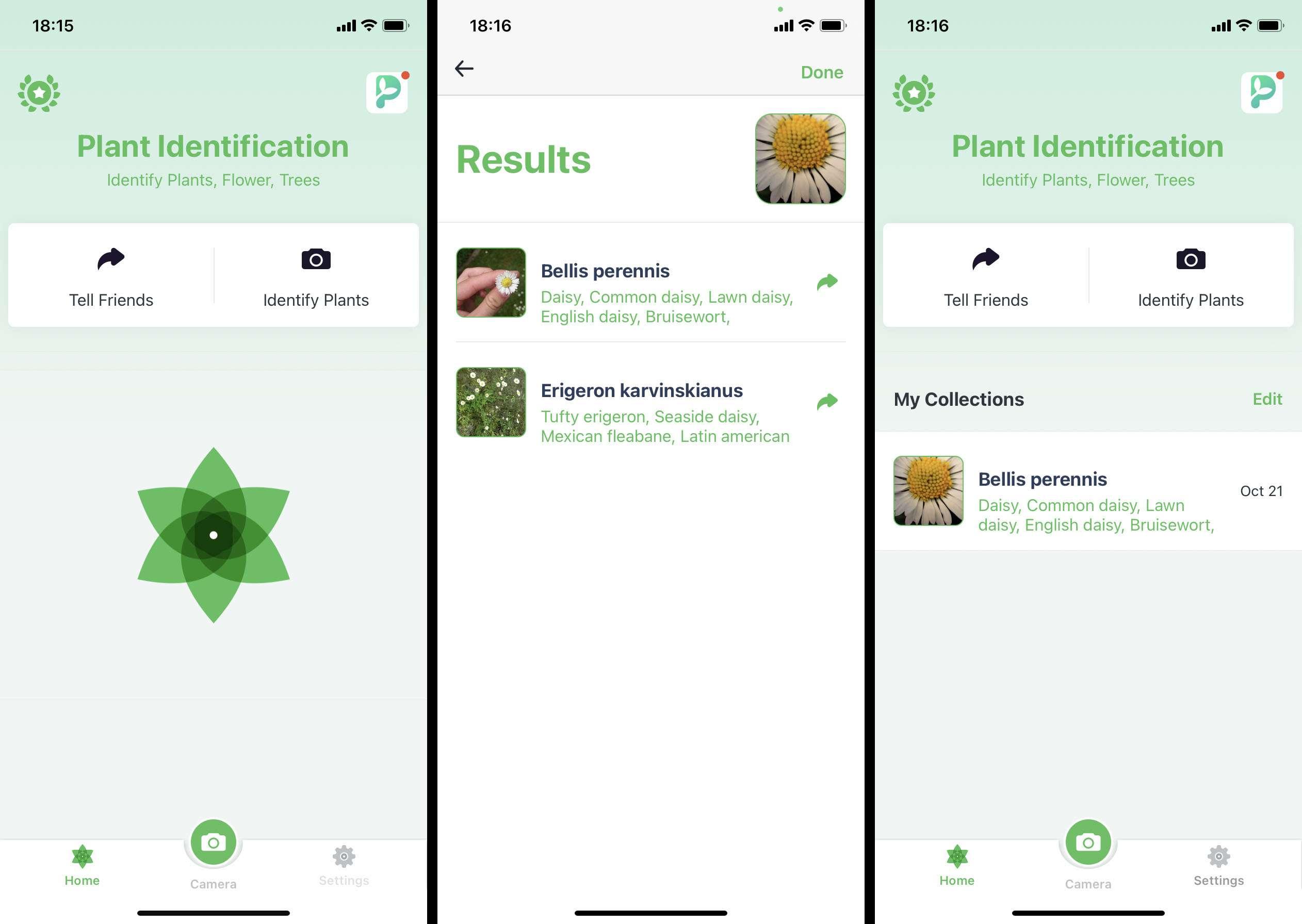 Plant Identification++ iOS app screenshots