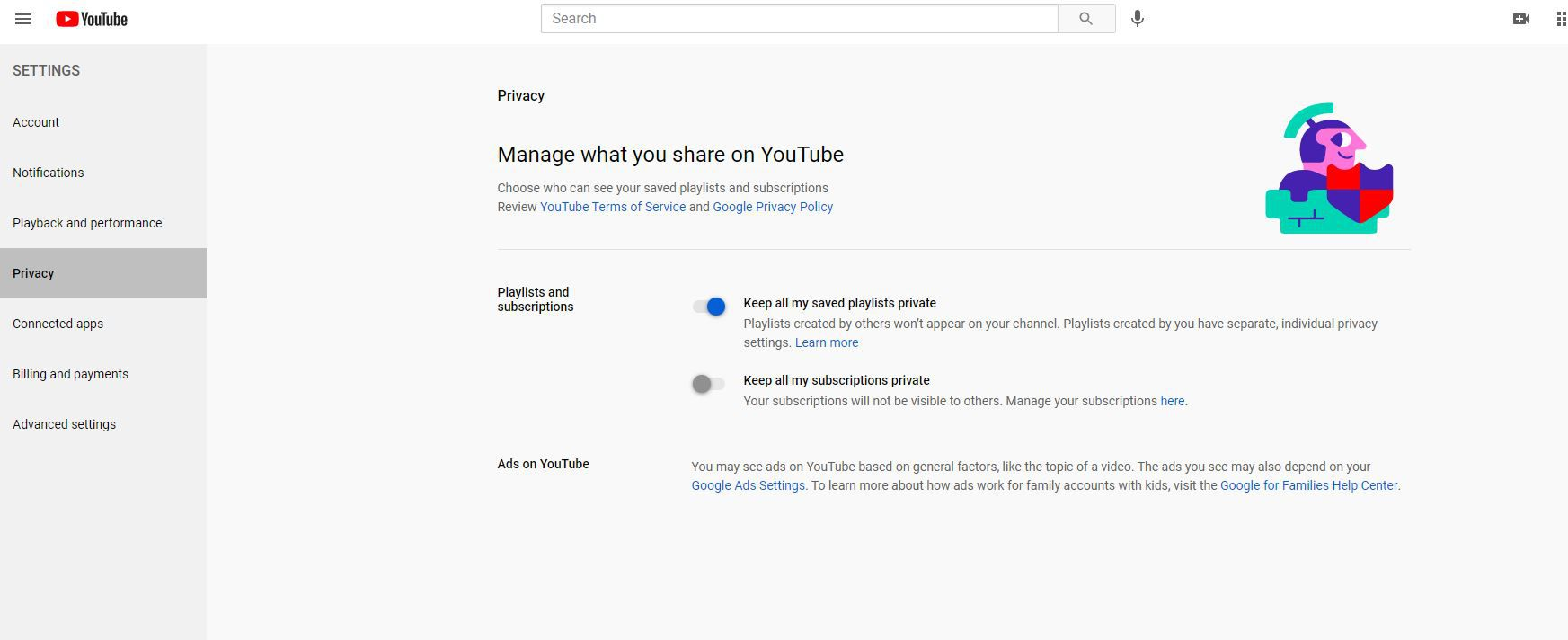 Manage what you share on YouTube