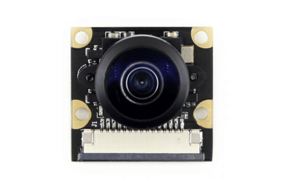Waveshare Fish-eye Camera Module, an aftermarket Raspberry Pi camera module accessory