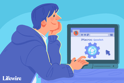 Person using Firefox on a computer