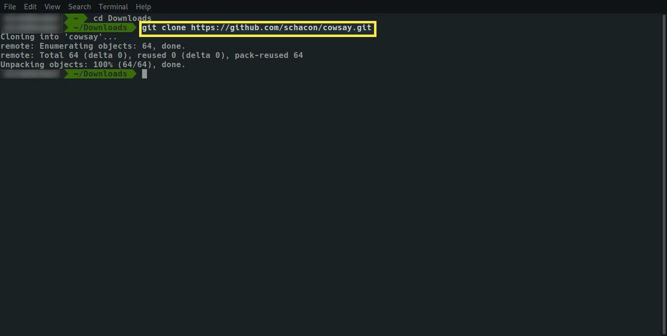 Git clone repository