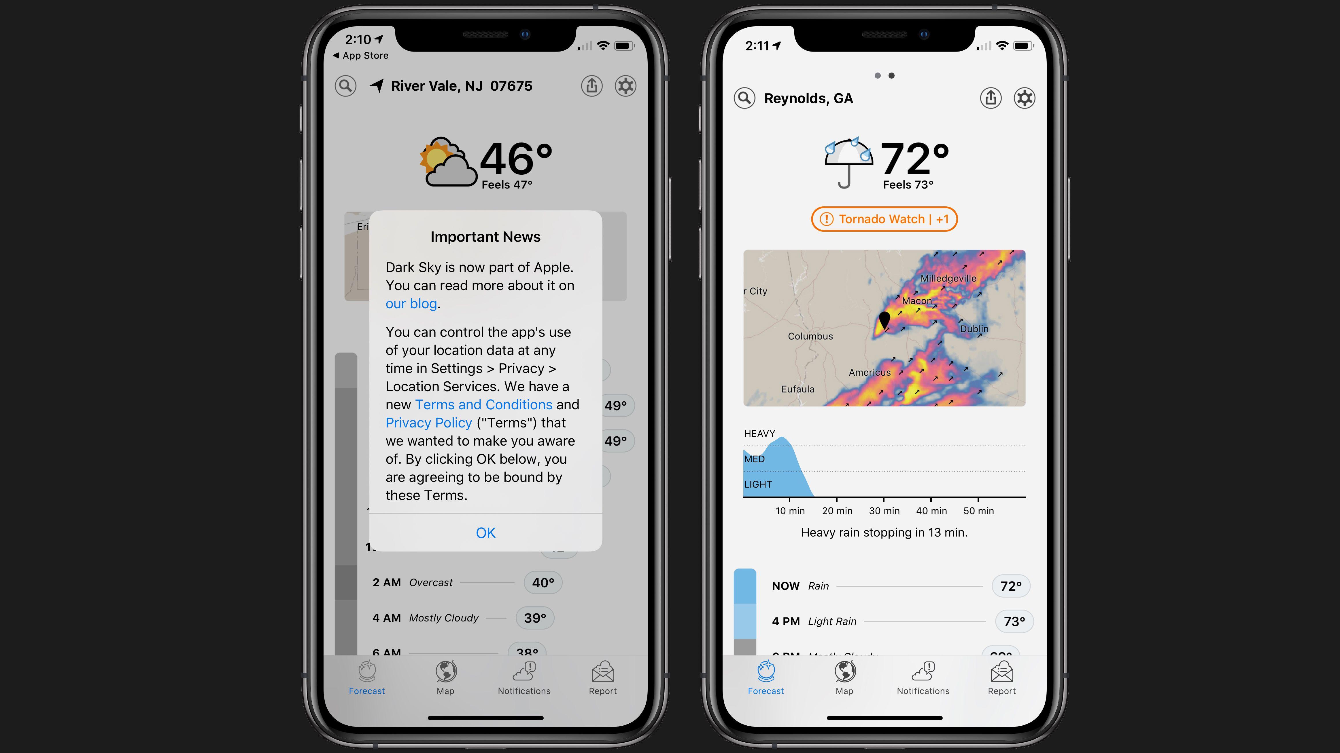 Weather App Dark Sky Sold to Apple