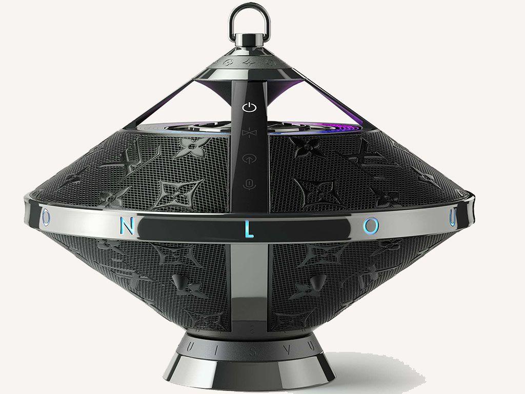 Side view of Louis Vuitton's Horizon speaker