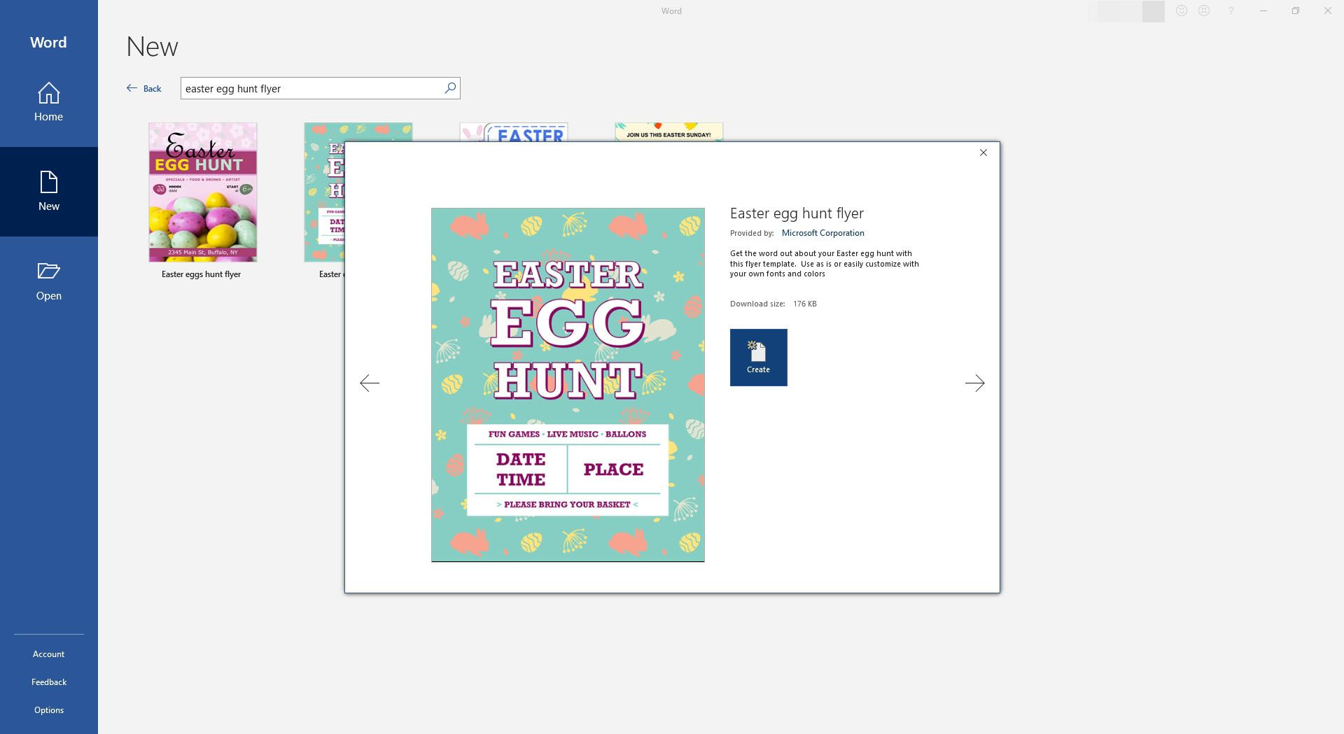 Easter Egg Hunt Flyer Announcement Template for Microsoft Word
