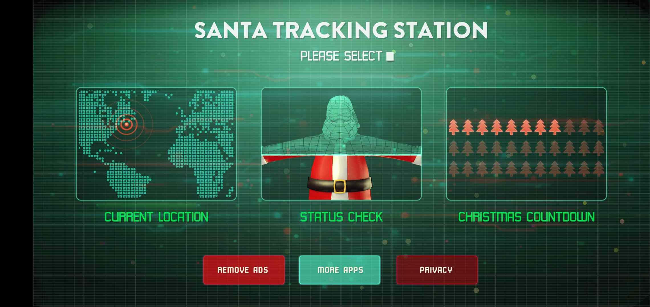 Santa Tracker and Status Check app