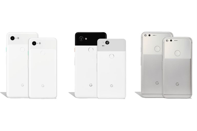 Google Pixel, Pixel 2, Pixel 3, and Pixel XL phones.