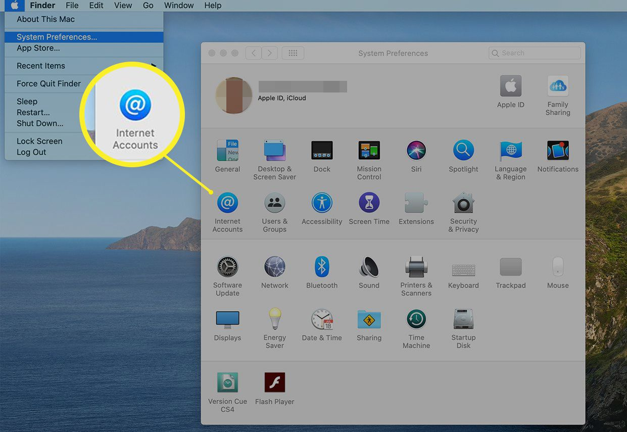 System Preferences window in macOS