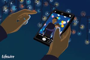 Bokeh effect on a smartphone