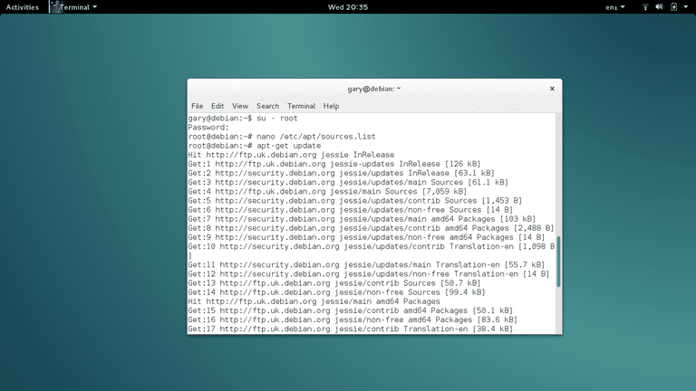 Install Flash Debian Jessie
