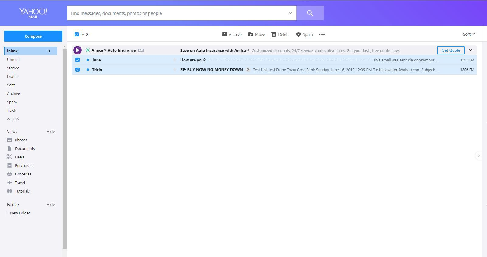 Send Spam to the Spam Folder in Yahoo Mail