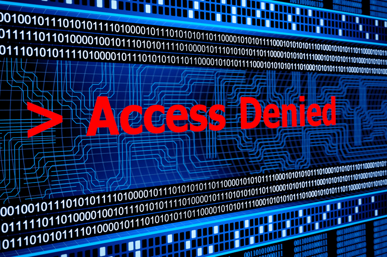 Image of a computer screen showing access denied