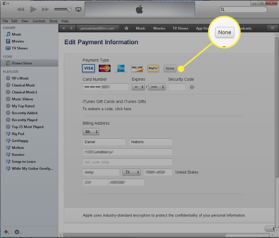 How To Remove A Credit Card From Your Itunes Account