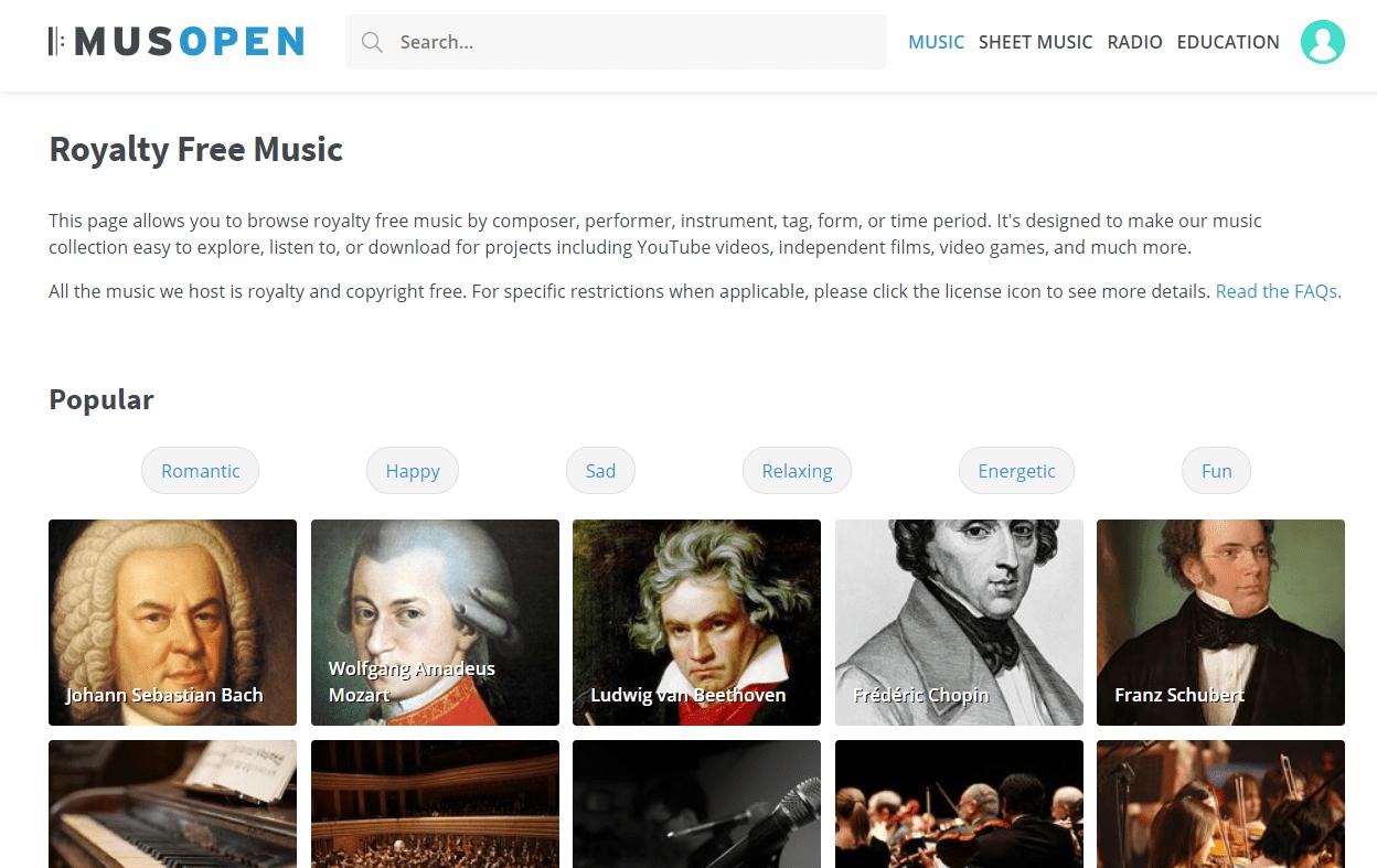 Musopen popular music