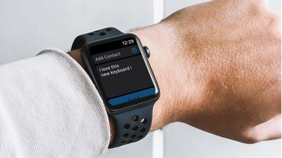 Typed text message ready to send on Apple Watch