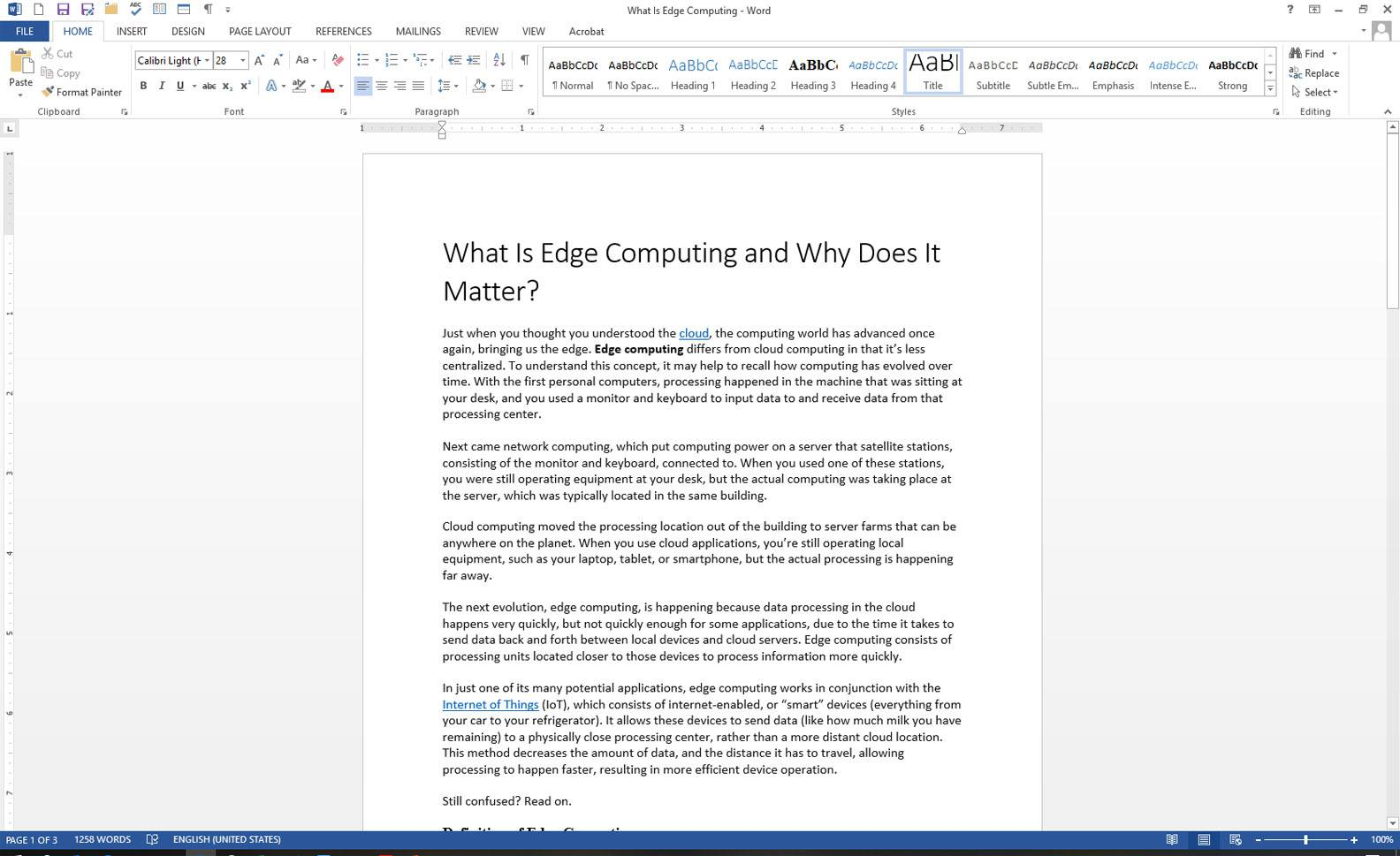 How to Search for Text in MS Word