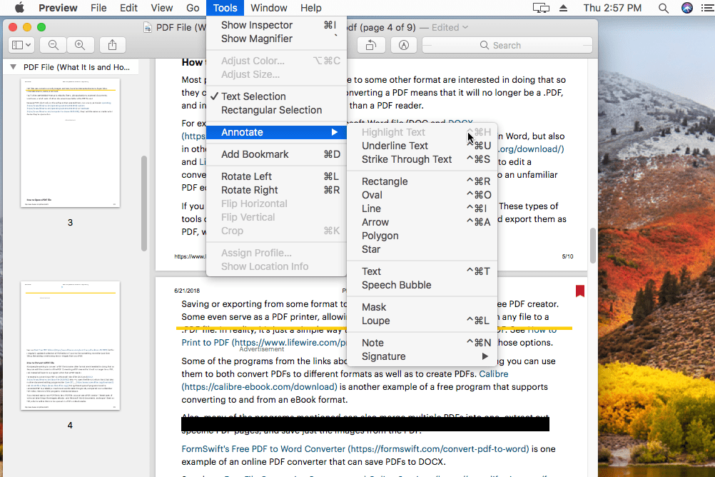 free pdf to word mac