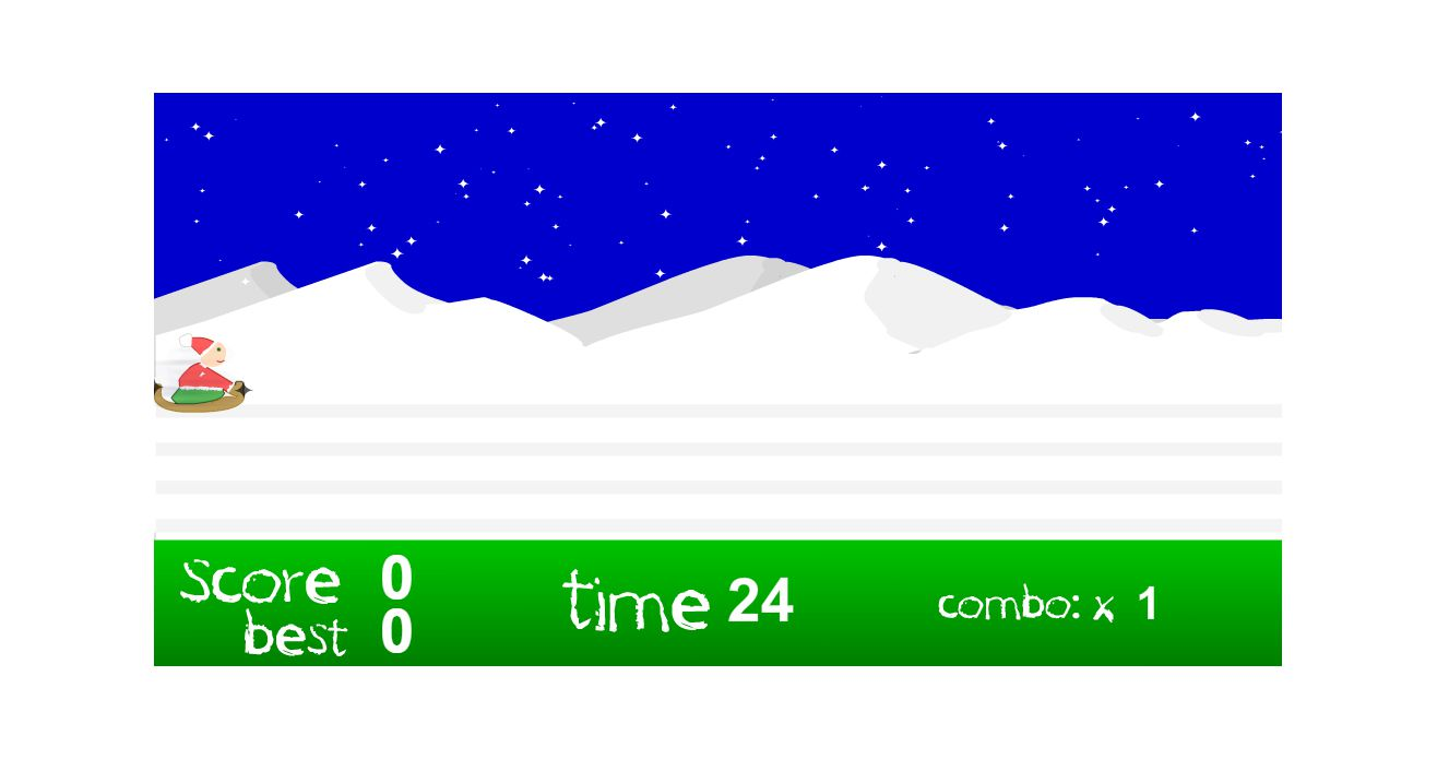 A screenshot of the game Christmas Tree Sledding
