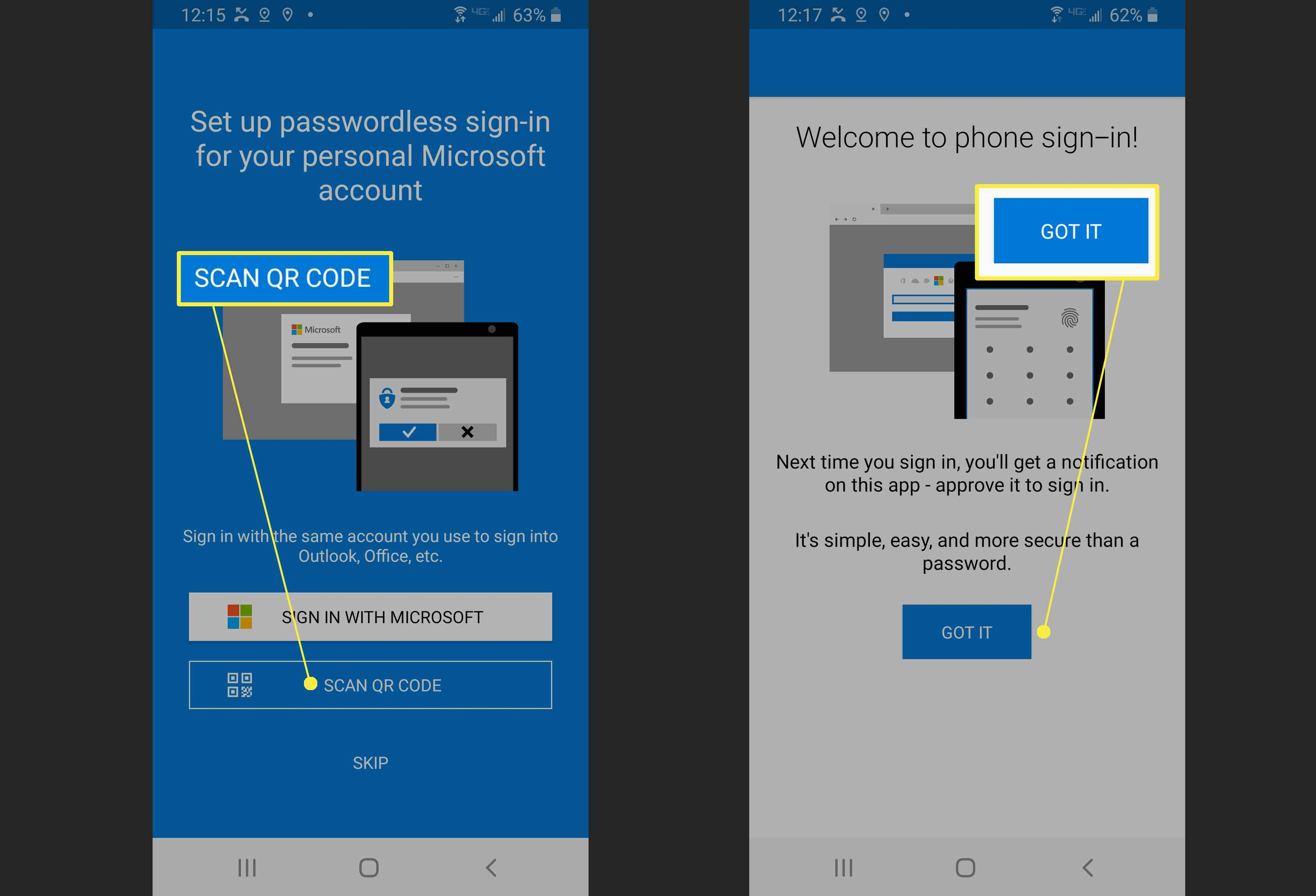 Setting up Microsoft Authenticator.