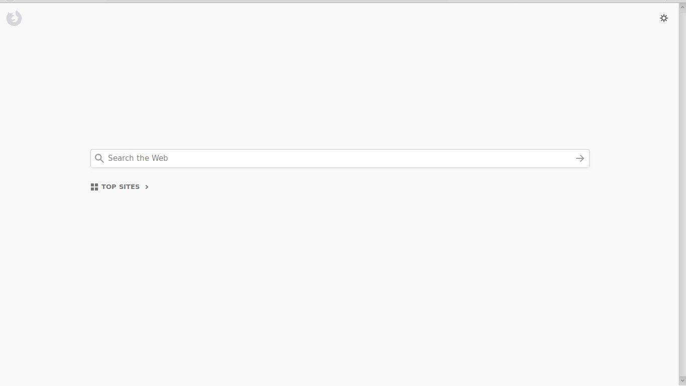 Firefox in full-screen mode