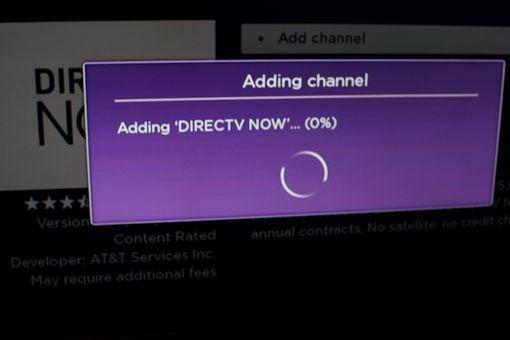 DirecTV Now Roku App installing