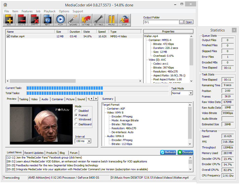 MediaCoder file converter