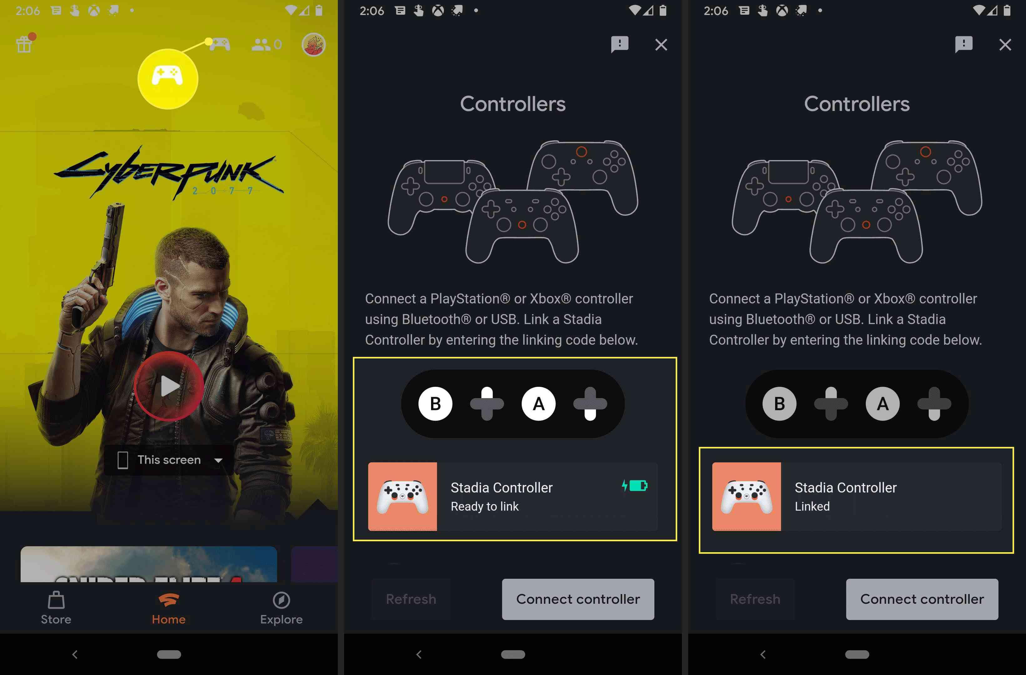 Adding Stadia controller to Android.