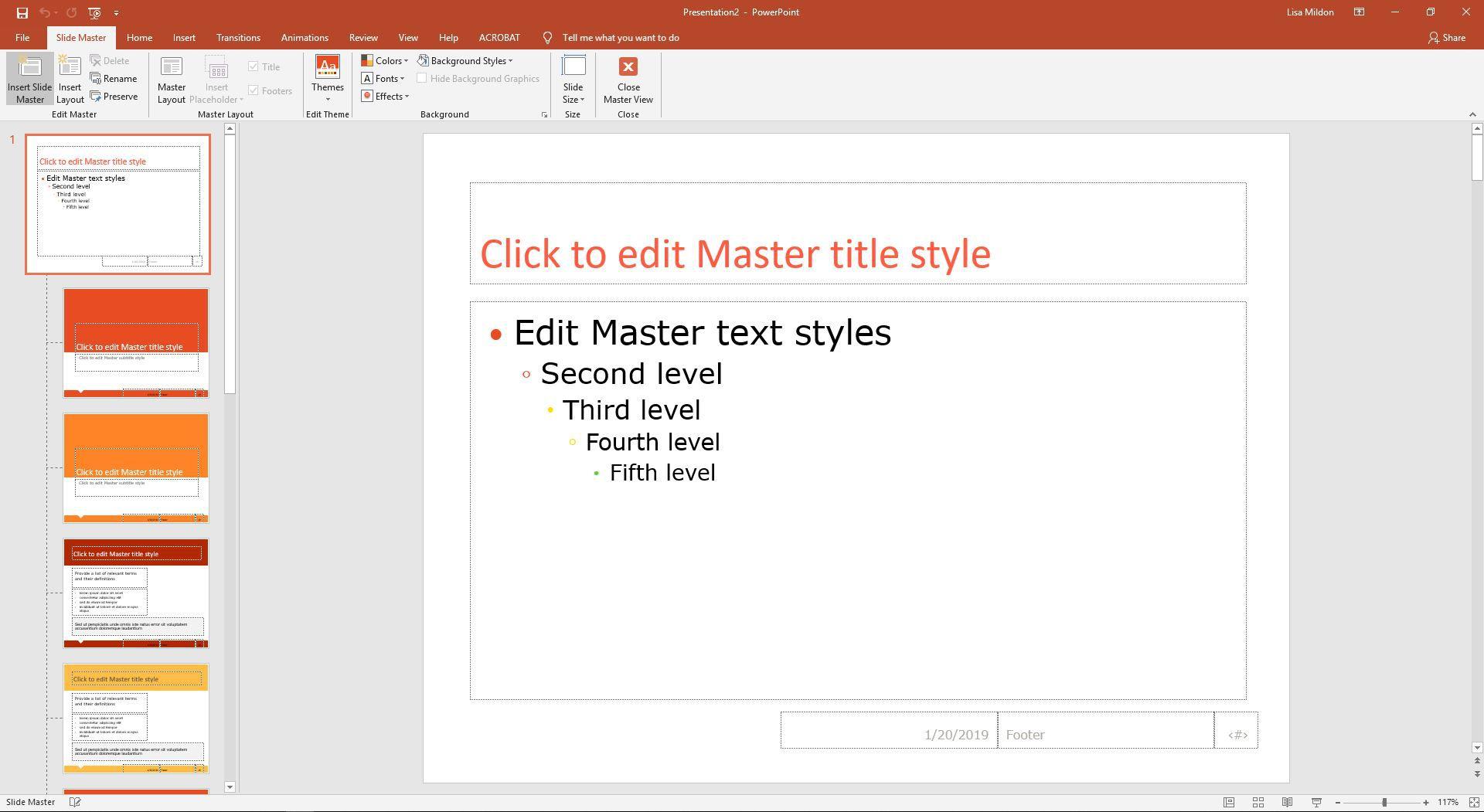 PowerPoint Master Slide view