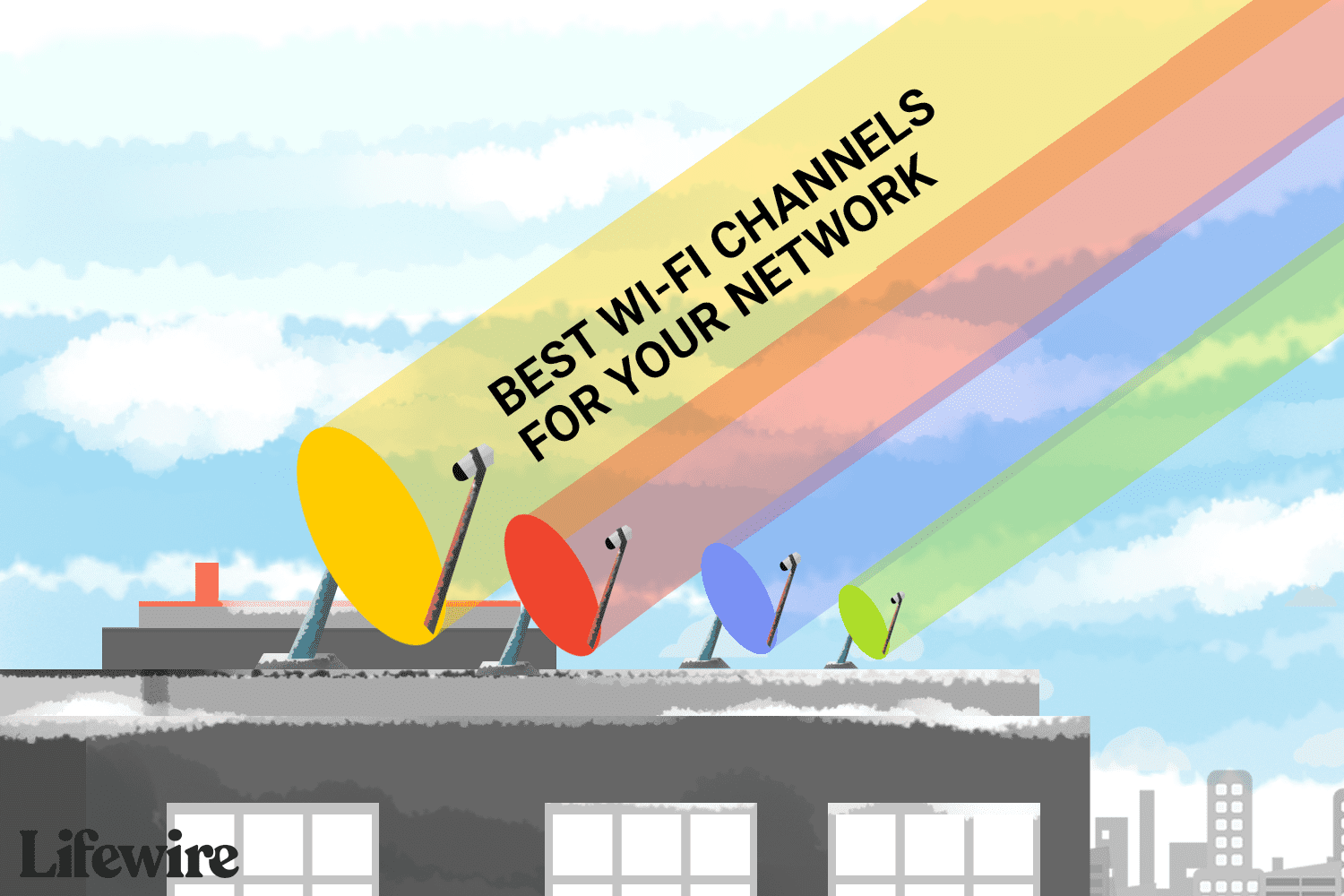 Different Wi-Fi channels that can be used on a network.