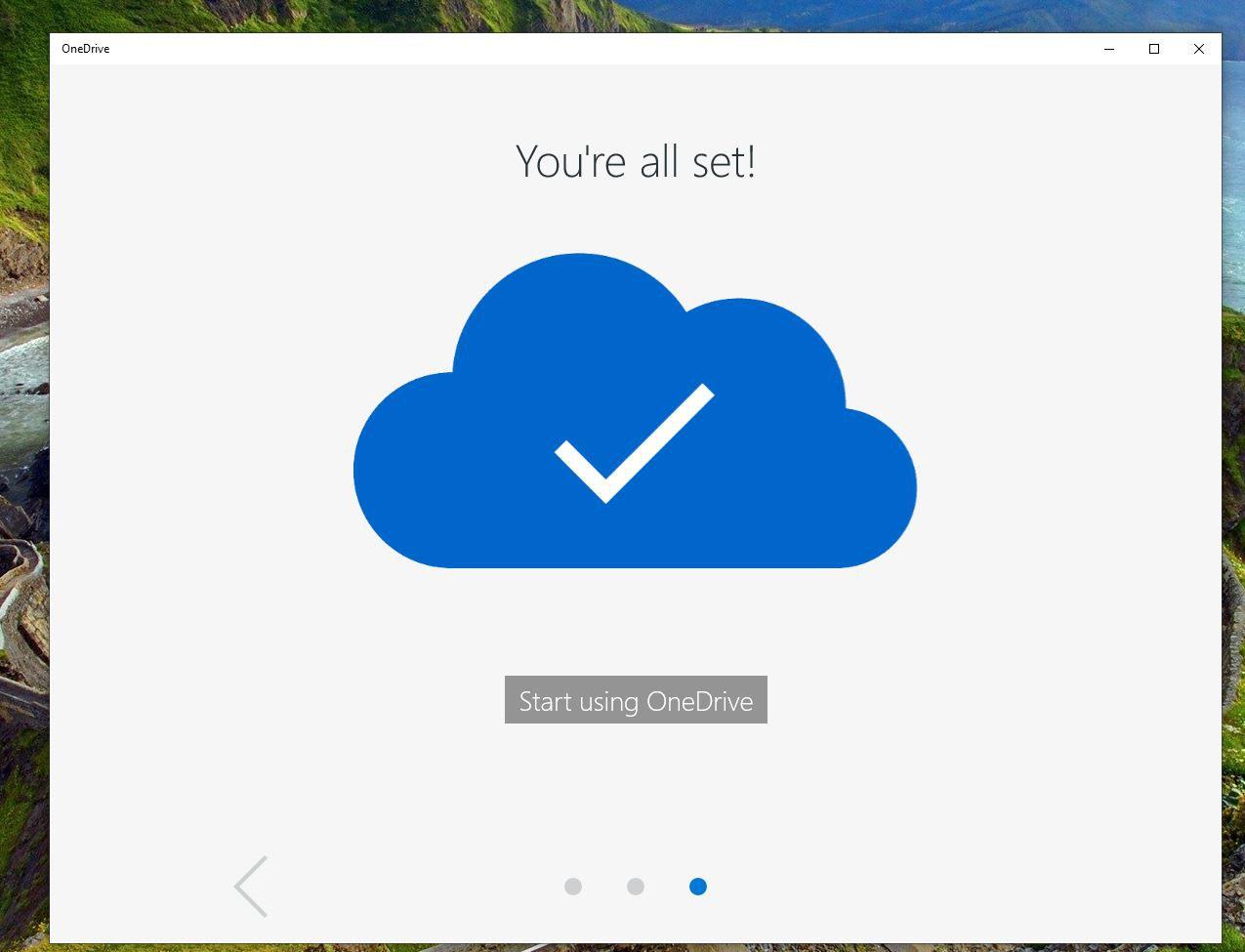 Screenshot of OneDrive app