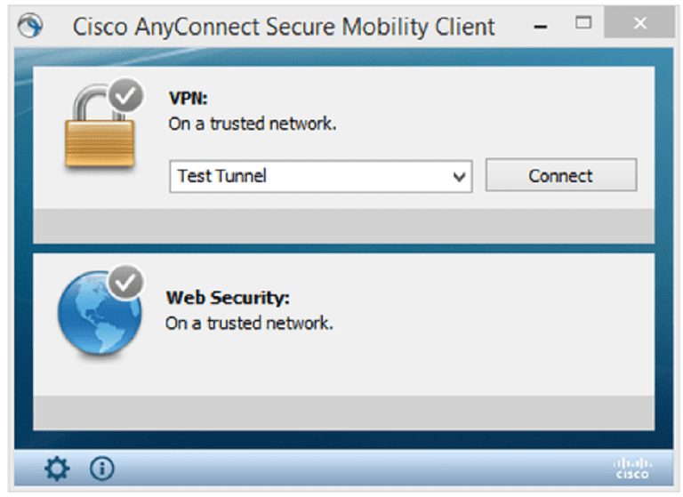 The Cisco AnyConnect Security Mobility Client