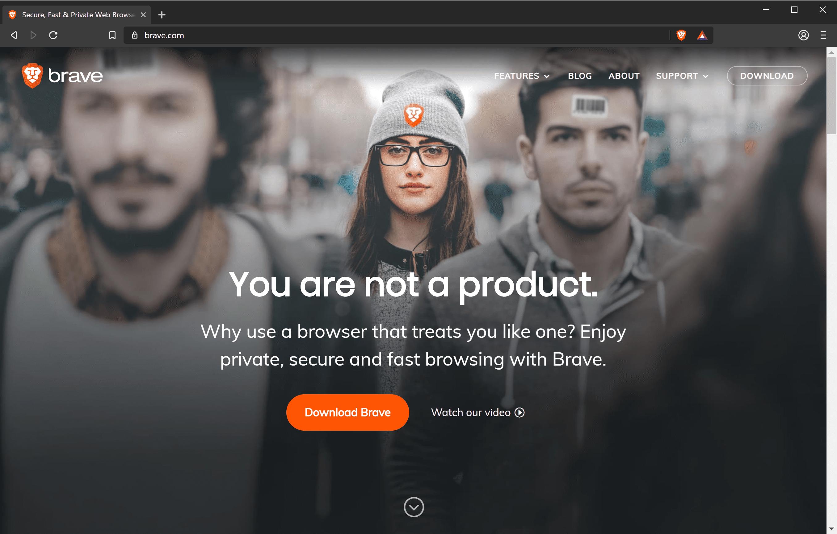 Brave browser.